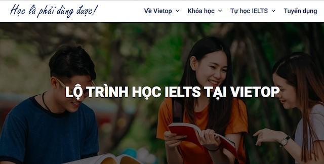 Hoc IELTS tai Vietop ban se duoc xay dung mot lo trinh cu the tuy thuoc vao kha nang