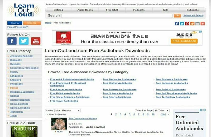Nếu muốn tìm Audiobook luyện nghe IELTS thì không được bỏ qua Learn Out Loud