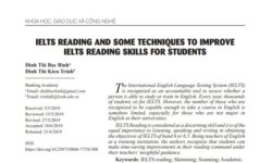IELTS Reading and some Techniques to improve IELTS Reading skills for students