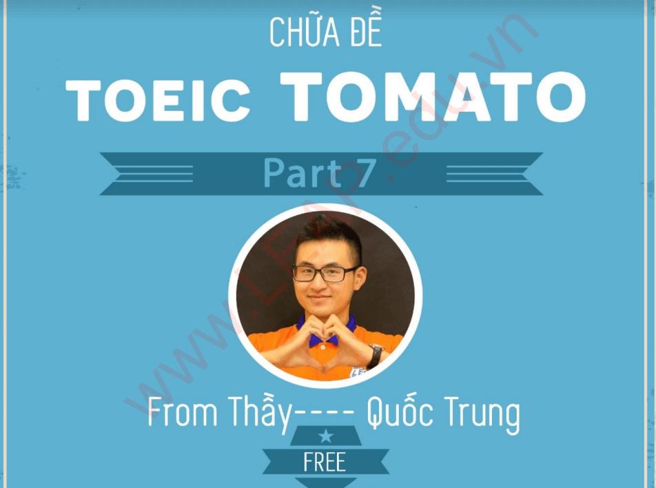 Tải miễn phí bộ Chữa đề toeic tomato part 7 [PDF]