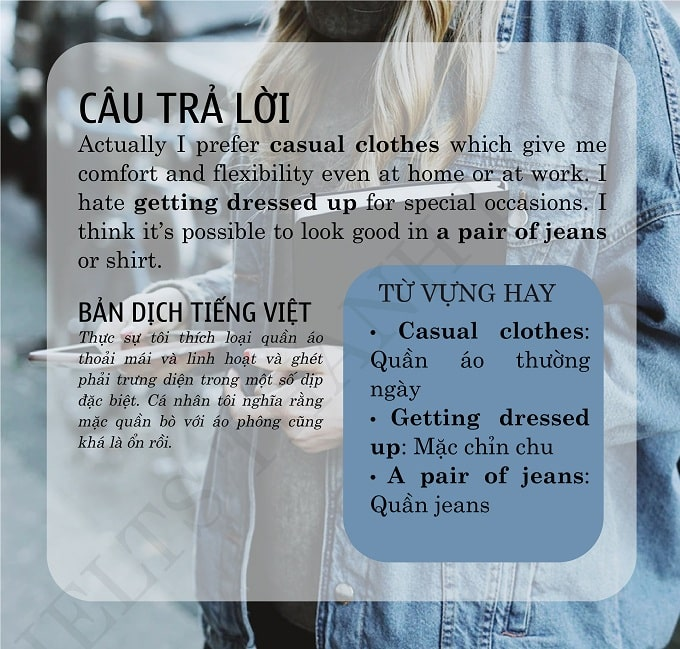 What type of clothes do you like to wear