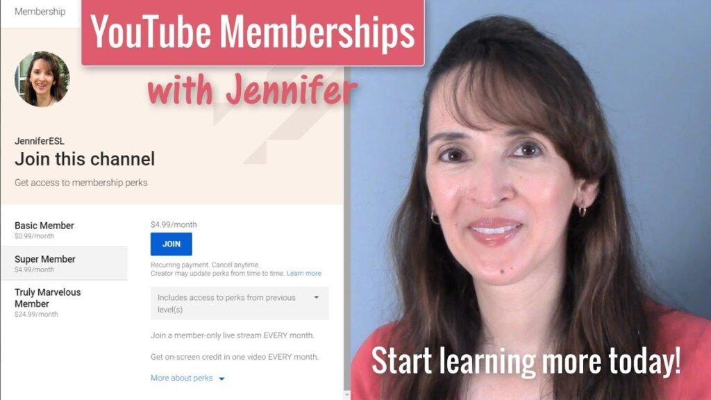 Kênh youtube JenniferESL