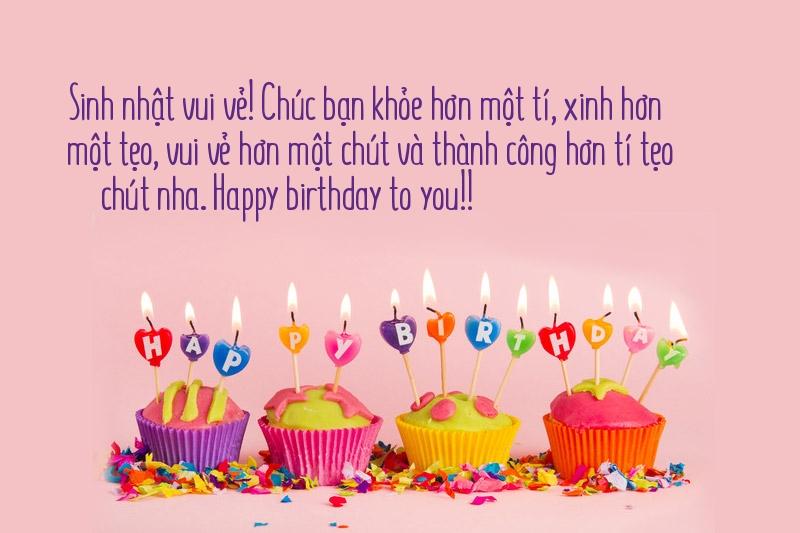 Lời chúc sinh nhật dành cho bạn bè