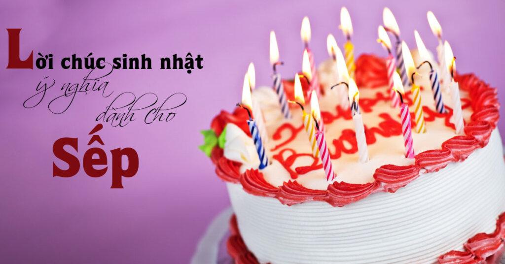 Lời chúc sinh nhật dành cho sếp
