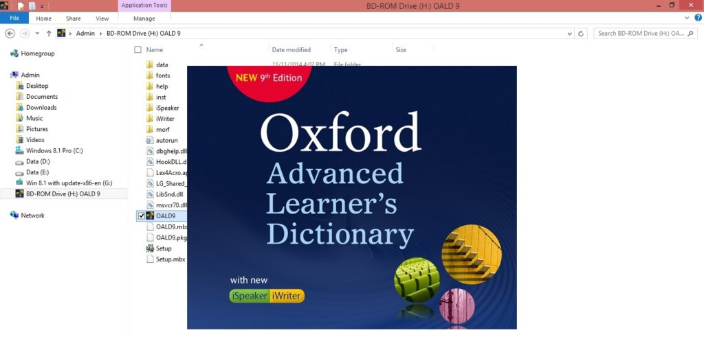 Phần mềm học tiếng Anh Oxford Dictionary