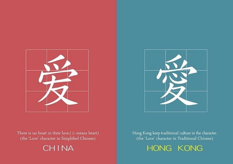 Tiếng Trung có nhiều loại chữ