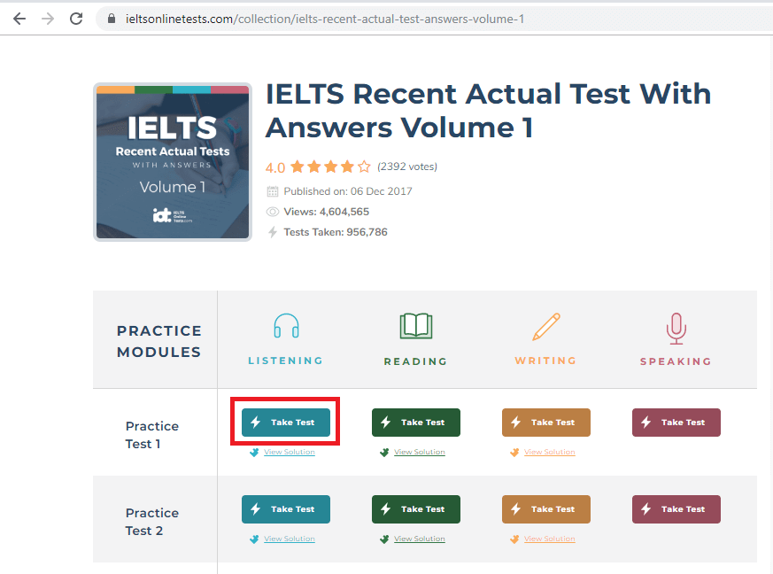 IELTS Online Test