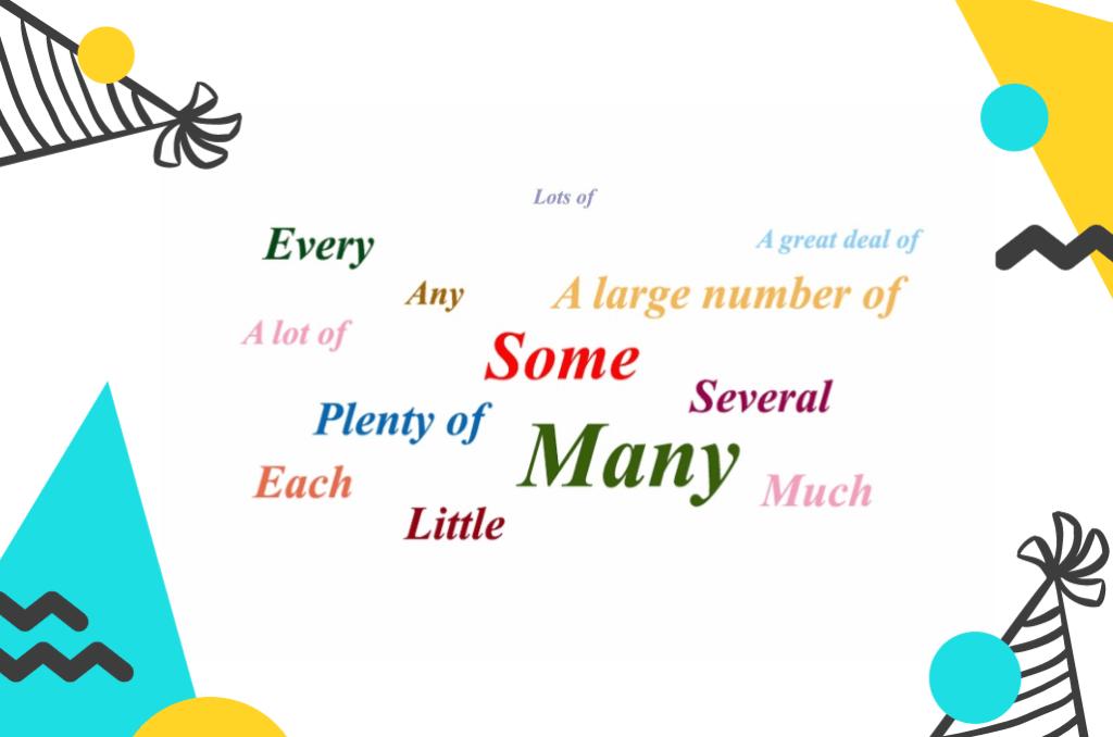 Lượng từ trong tiếng Anh