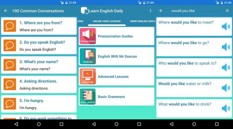 Phần mềm phát âm tiếng Anh với Learn English Daily