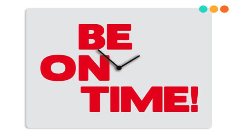 Định nghĩa và cách dùng On time