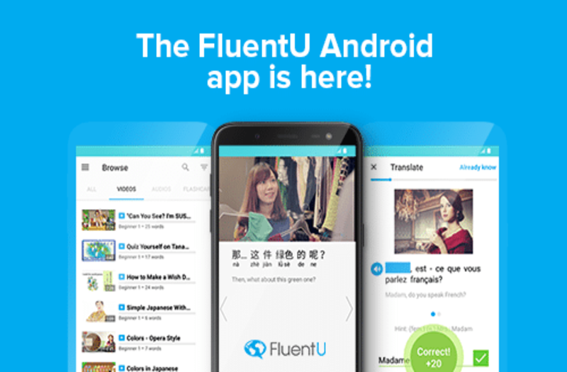 Ứng dụng flashcard tiếng Anh FluentU.