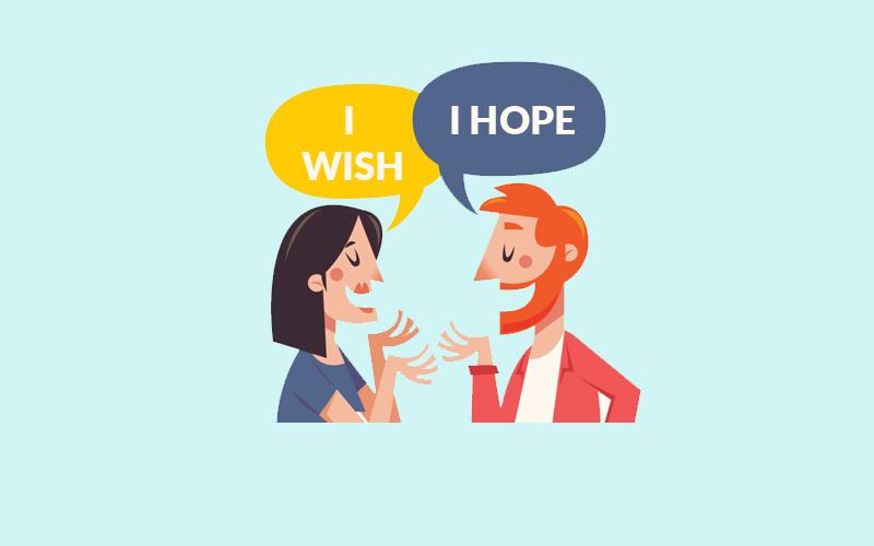 Phân biệt cấu trúc Hope và Wish chi tiết
