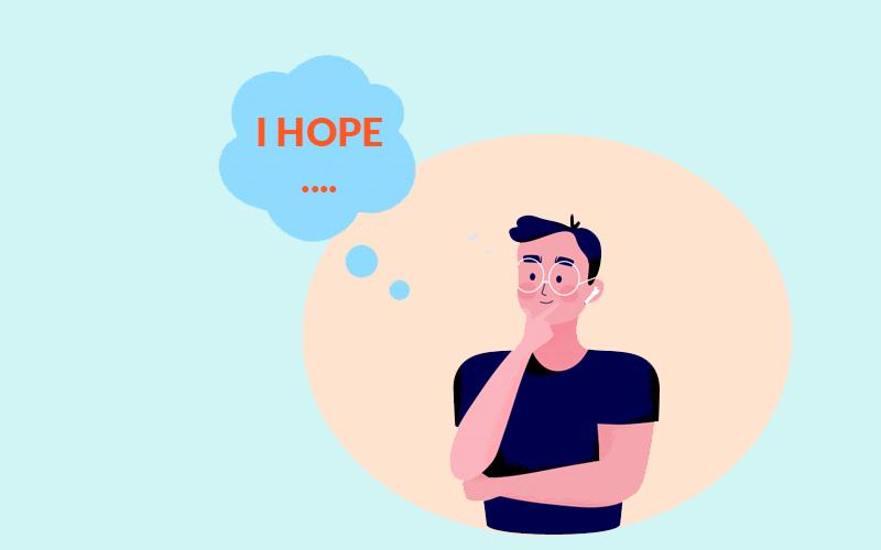 Cách dùng Hope ở các thì